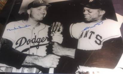Duke Snider, Willie Mays, 16x20