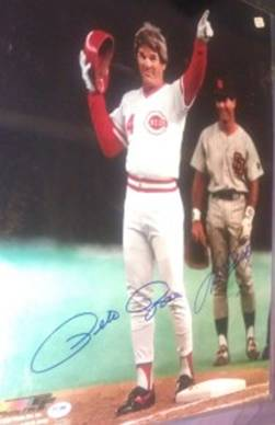 Pete Rose, Steve Garvey, 16x20, PSADNA