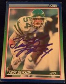 Autographed Football Cards A G